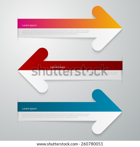 Vector illustration of three arrows infographics - stock vector