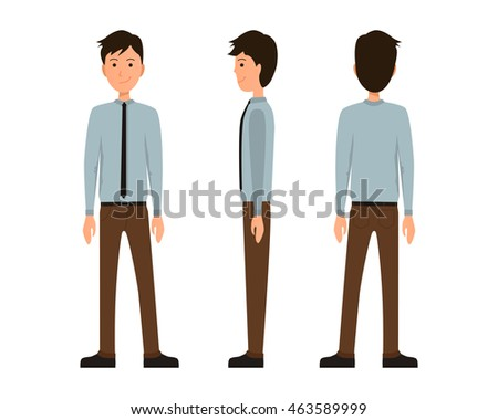 Man back view vector