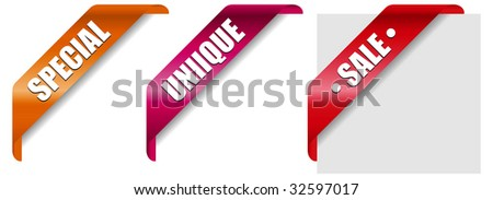Vector illustration of three editable design banners