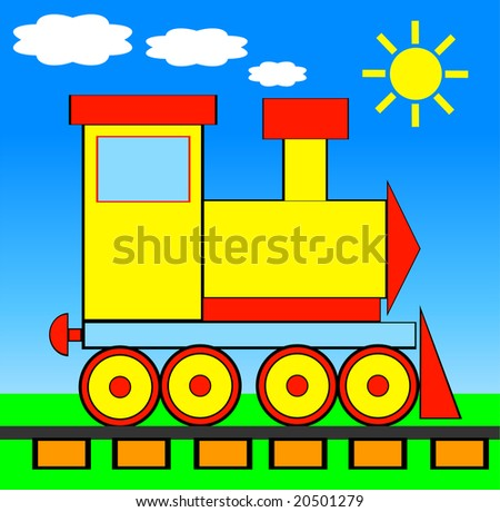 Vector illustration of TRAIN - stock vector