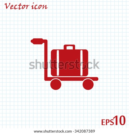 Vector illustration of trolley suitcase
