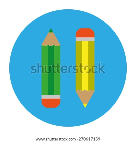 Vector illustration of two pencils - stock vector