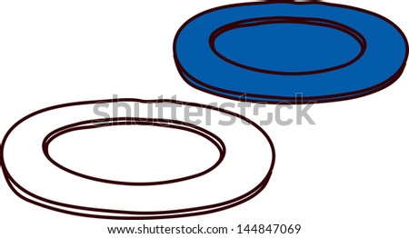 Vector illustration of two plates