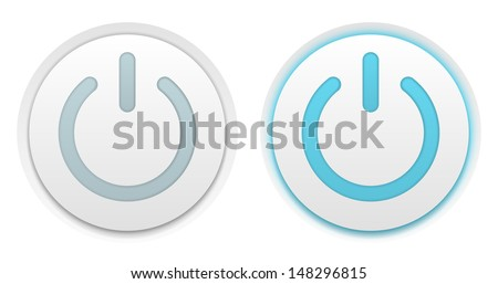 Vector illustration of two power buttons - stock vector