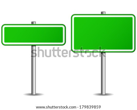 vector illustration of two roadsign on white background
