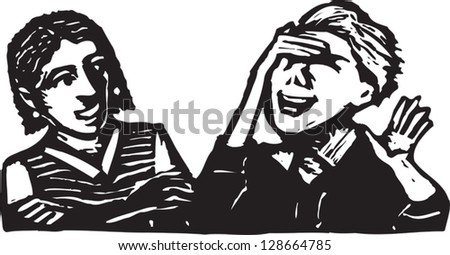 Vector illustration of two women laughing