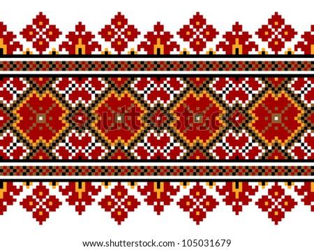 Vector illustration of ukrainian national pattern ornament eps10 - stock vector