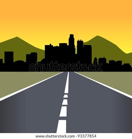 Vector illustration of urban skylines - stock vector
