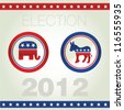 Vector illustration of US election badges and icons - stock vector
