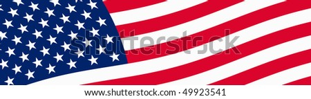 Vector Illustration of USA flag - stock vector