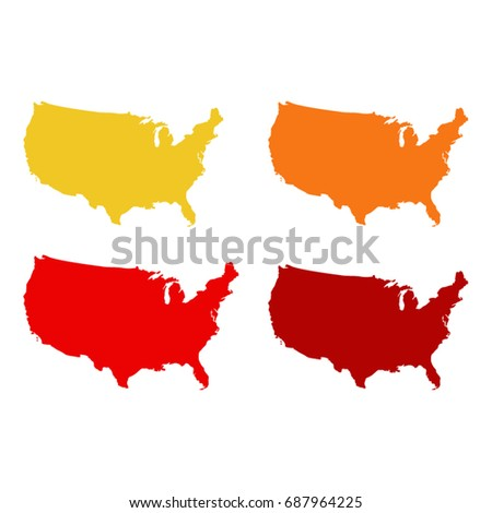 vector illustration of USA maps