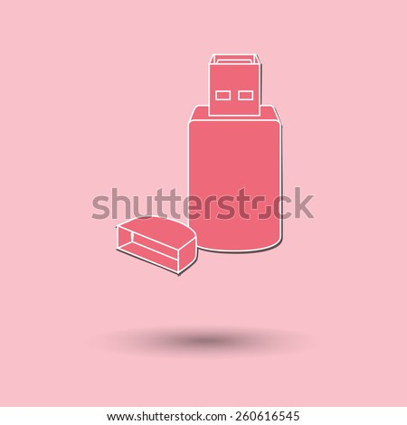 Vector illustration of  USB color background. - stock vector