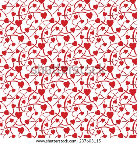 Vector illustration of valentine day seamless texture - stock vector