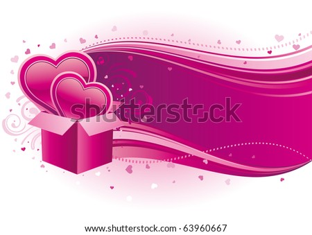 vector illustration of valentine's day - stock vector