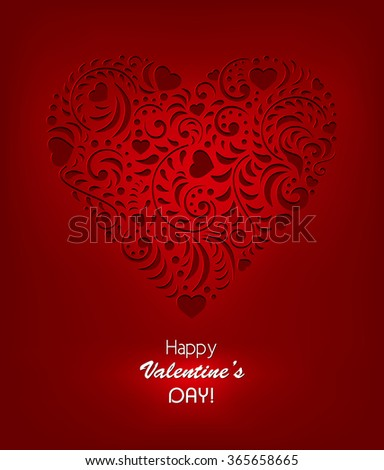 Vector illustration of valentines day background - stock vector