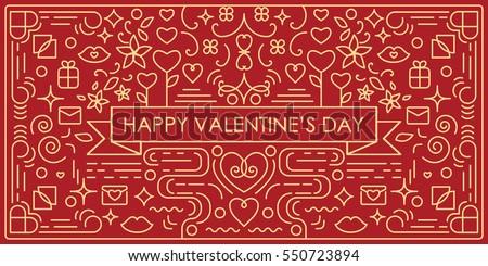 Vector illustration valentines day greeting card stock vector hd vector illustration of valentines day greeting card with single weight line art swirls and decorative elements m4hsunfo