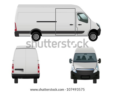 vector illustration of van to put your own design on, eps 8 file, raster version available - stock vector