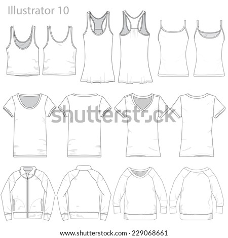 Vector Illustration of Various Clothing Garments. - stock vector