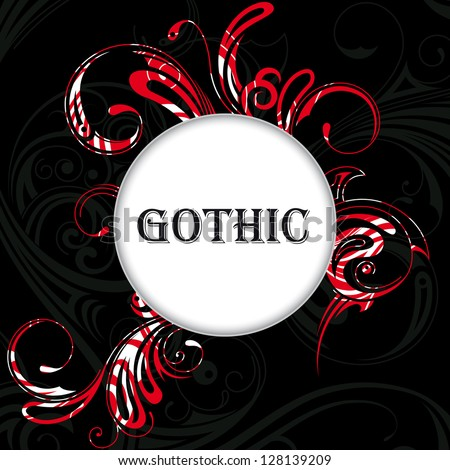 Vector illustration of vector background in gothic style - stock vector