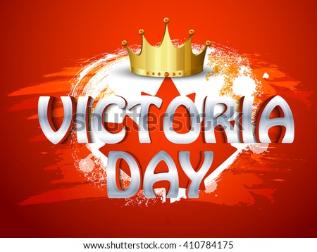 Vector illustration of Victoria Day. - stock vector