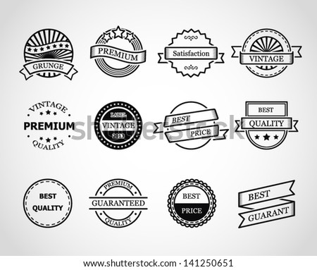 Vector illustration of vintage labels.