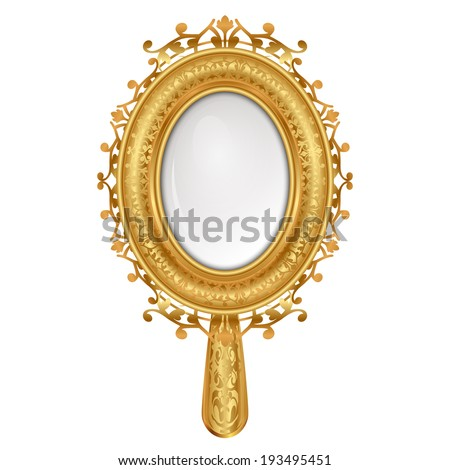 Vector illustration of vintage mirror - stock vector