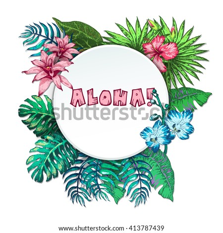Vector Illustration of Vintage T-short Print. Summer on beach - stock vector