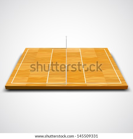 vector illustration of volleyball court - stock vector