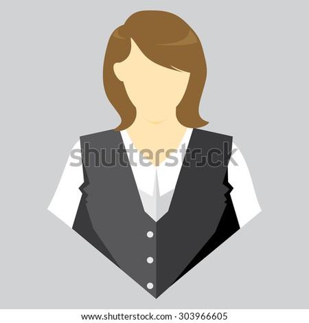 vector illustration of waiters - stock vector