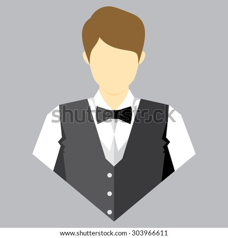 vector illustration of waiters - stock vector