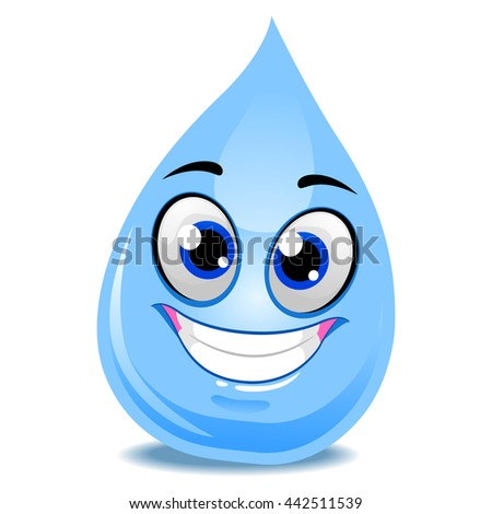 Vector Illustration of Water Drop Mascot