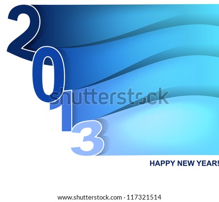 Vector illustration of wave New year card