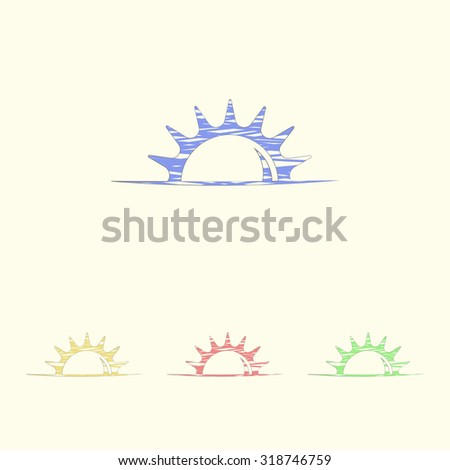 Vector illustration of weather icon