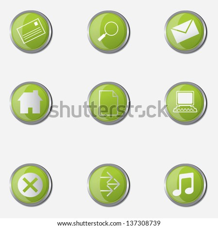 Vector illustration of web icons for communication - stock vector