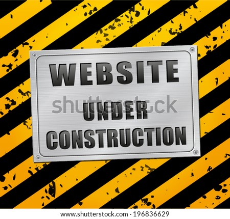Vector illustration of web page under construction - stock vector