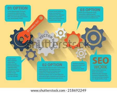 Vector  illustration of website analytics search information concept - stock vector