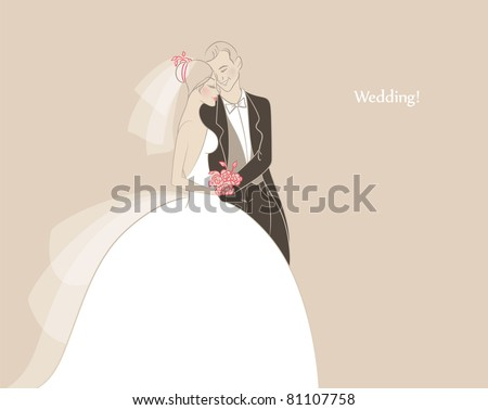 Vector illustration of Wedding - stock vector