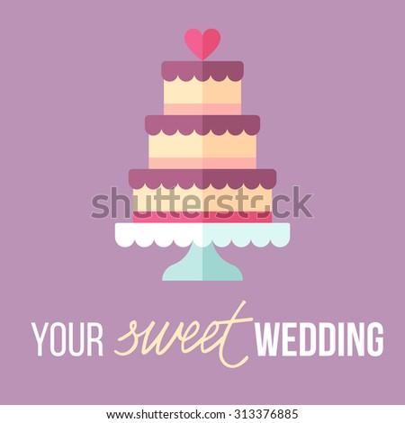 Vector Illustration Wedding Decoration Logo Hand Stock Vector