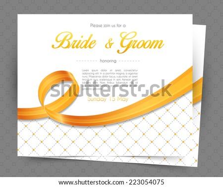 Vector illustration of Wedding invitation - stock vector