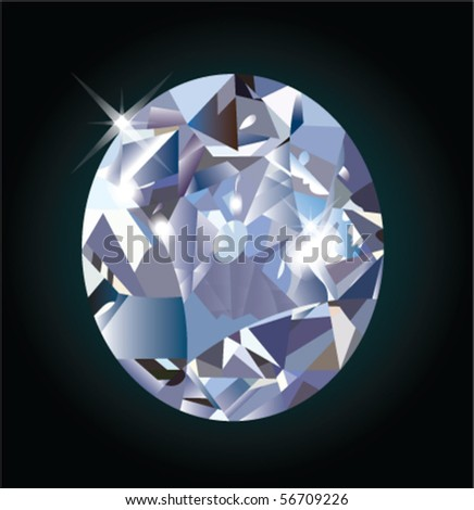 Vector illustration of white diamond