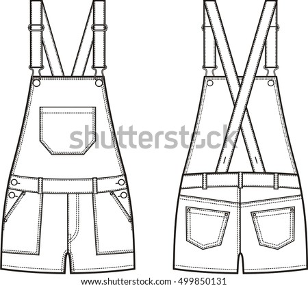 172c64efe3f6 How to draw overalls easy