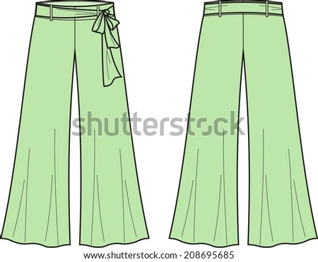 Brilliant Vector Illustration Of Women39s Business Pants
