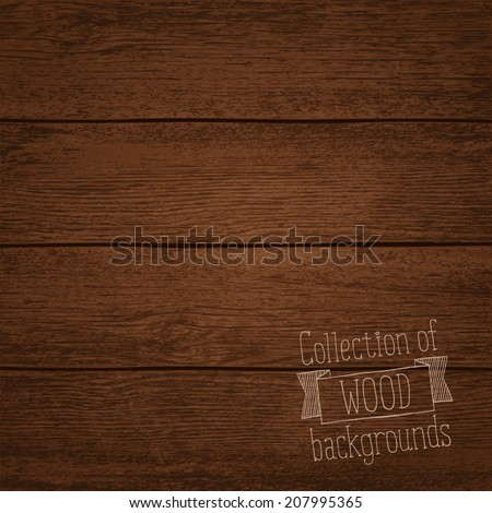Vector illustration of wood background - stock vector