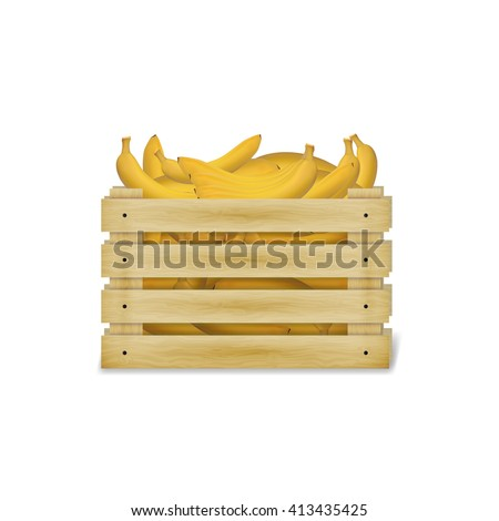 Banana Crates Stock Images Royalty Free Images Vectors