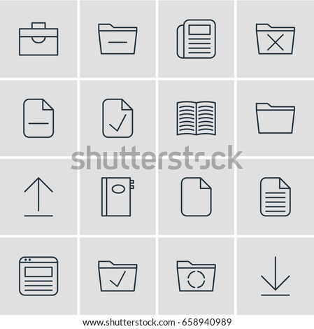construction contract icons paper icon document icon vector eps10 stock vector 628732016