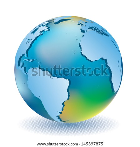 Vector illustration of world globe. - stock vector