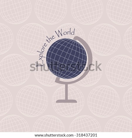 Vector illustration of world globe.