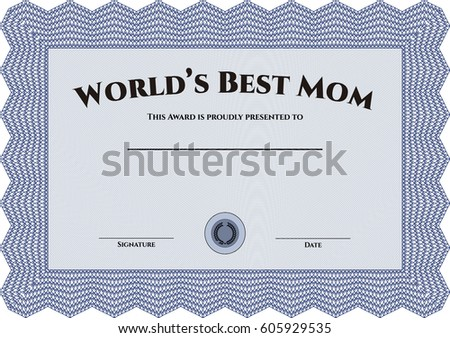 certificate template stock illustration 244434352