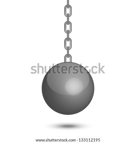 Vector illustration of wrecking ball - stock vector