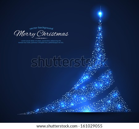 Vector illustration of Xmas tree - stock vector